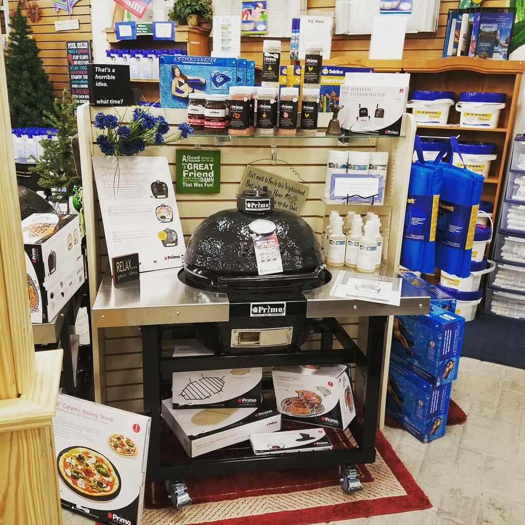 You can find the complete Primo Grill line at Illiana Backyard Fun! We also stock a long list of grilling accessories that pair perfectly with your backyard cooking space! Stop by our store located in Watseka, IL to browse our collection of Primo grills and accessories!
