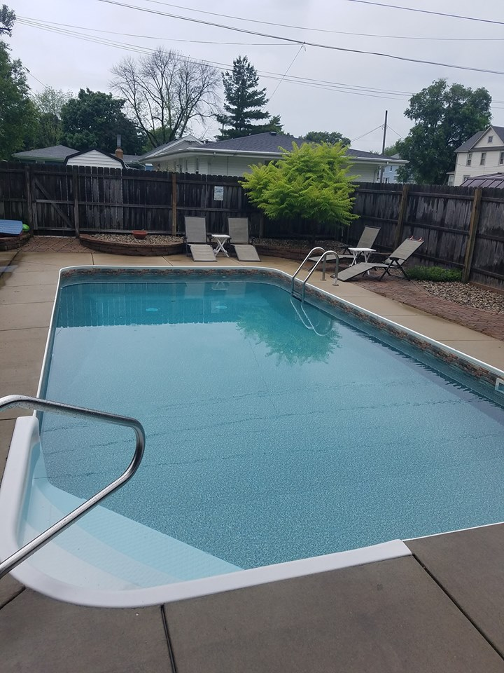 This home owner contacted Illiana Backyard Fun after they noticed mold developing inside of their swimming pool. At first glance, this appeared to be a chemical issue. After several chemical treatments, it was apparent that something else was wrong. Hence, they contacted Illiana Backyard Fun!