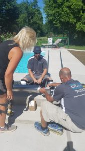 Our crews are hard at work installing an Automated Pool Cover from Coverstar Central. An automated pool cover enhances the functionality of your swimming pool and adds an extra layer of leaf protection - keeping your pool cleaner all year round!