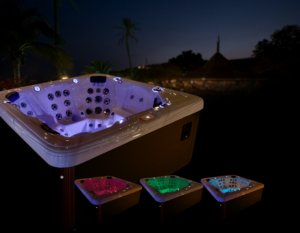 Our Garden Leisure Spas utilize the highest quality spa automation on the market. Powered by In.Touch, you can have the power to control all the aspects of your Garden Leisure Spa from the palm of your hand! Turn your lights on and off, adjust the temperature and play audio. This spa is designed for your ultimate enjoyment!