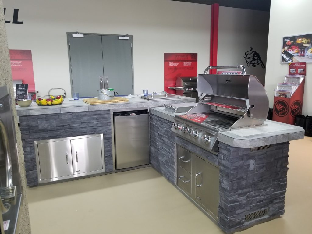 We recently completed our visit to the Bull Grills factory. There, we got to see how these beautiful islands are built and assembled for our clients. These islands and grills are truly one-of-a-kind and built with superior quality!